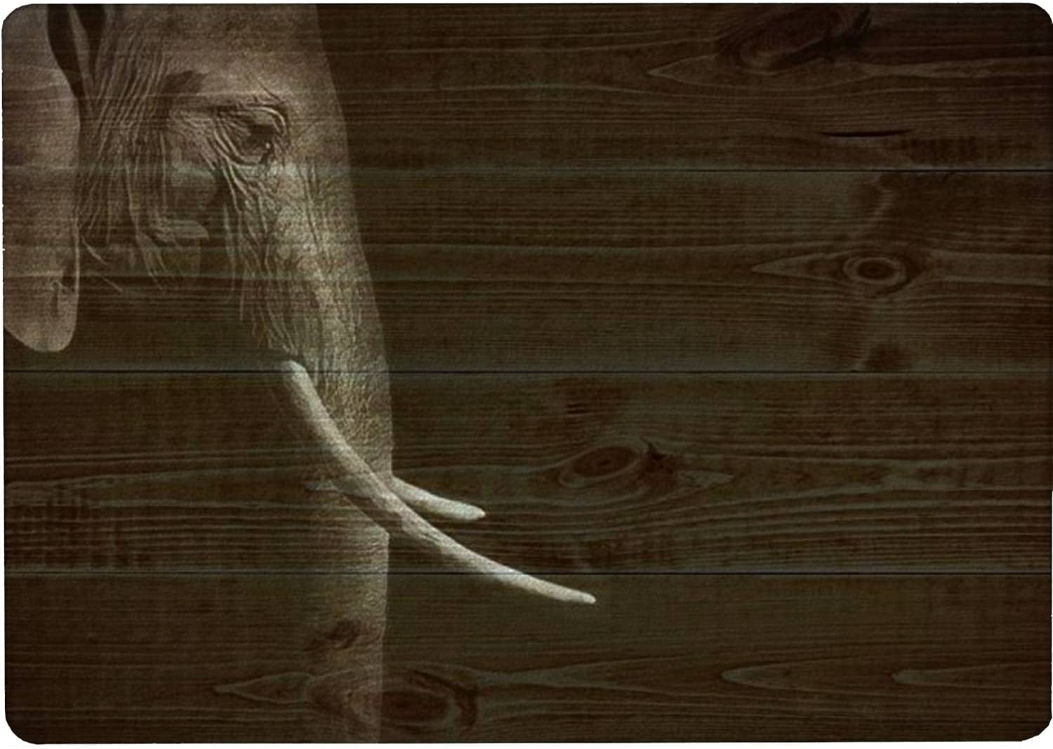 OFFicial site Tempered Glass Cutting Board African elephant specialty shop black white and in