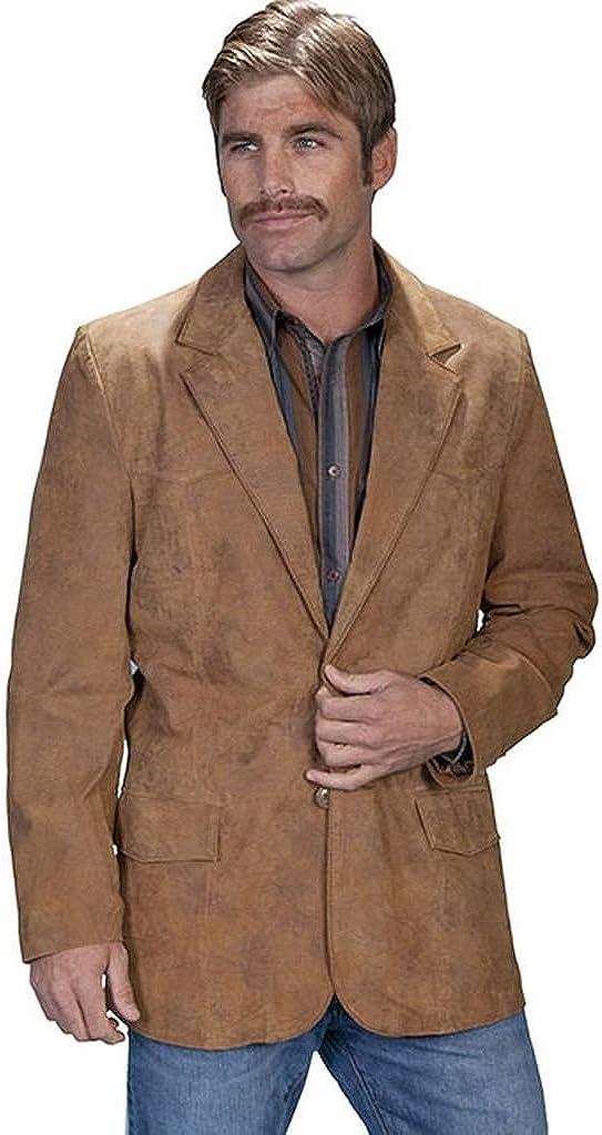 Scully Men's Western Leather Blazer Brown 48 R