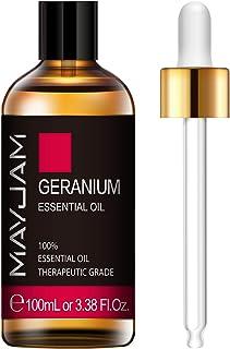 MAYJAM Geranium Essential Oils 100ML/3.38FL.OZ Pure Essential Oils Premium Quality Geranium Oil Perfect for...