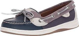 Sperry womens Angelfish Varsity Boat Shoe, Navy/Grey Corduroy, 5.5 US