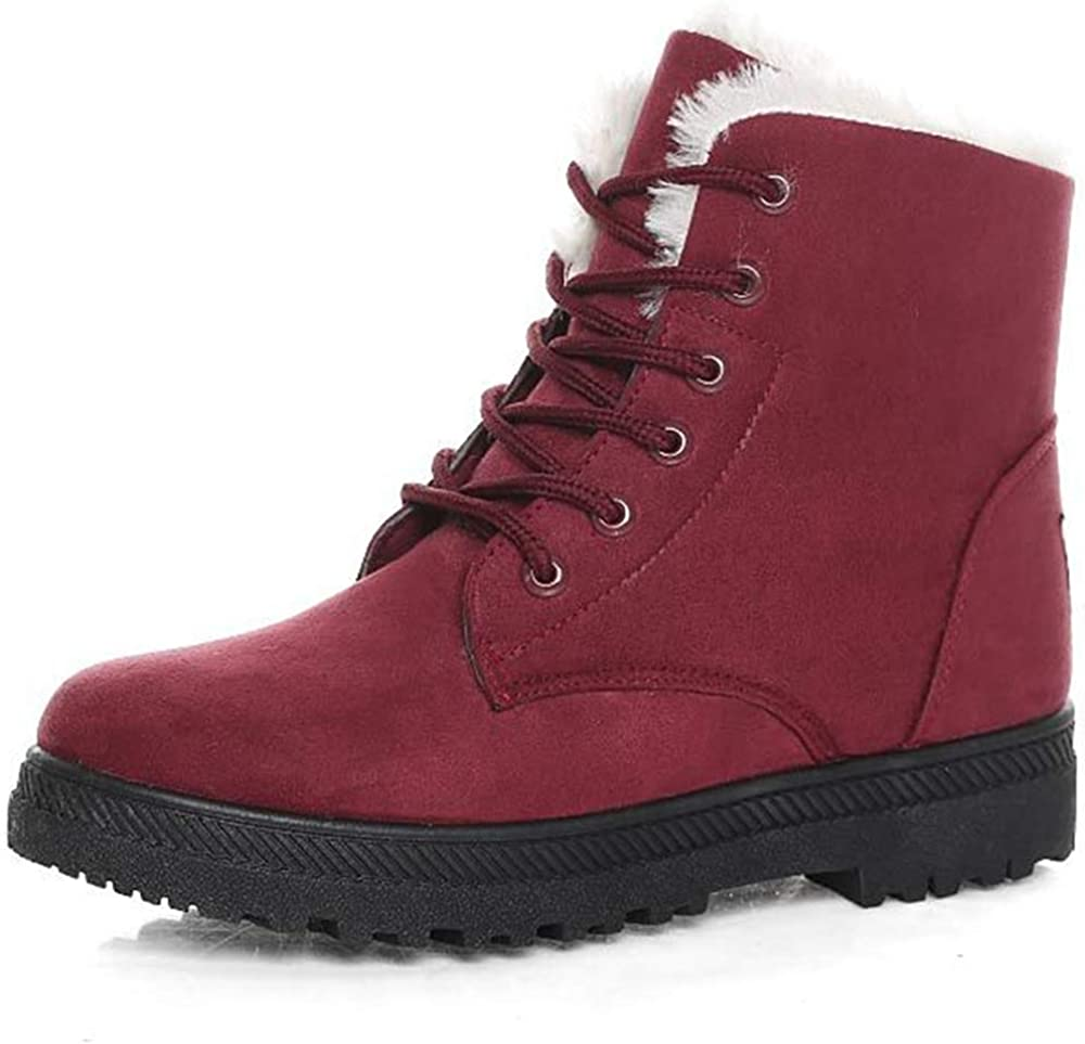 SO SIMPOK Women's Comfortable Criss Cross Lace Up Ankle Snow Boots Ladies Daily Concise Shoes