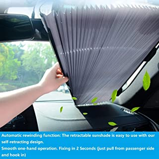 Best solar power windshield shade Reviews