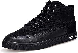 [D.IIZOO] 8cm 6cm身長アップ シークレットシューズ スニーカー メンズ 背が高くなる靴 ハイカット カジュアル ウォーキングシューズ 軽量 通気性