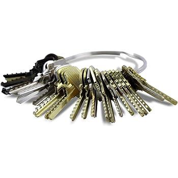 Kit de 15 llaves bumping Bump-Keys para cerraduras de serreta ...