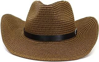 XinLin Du Summer Western Cowboy Hat Straw Sun Hat Male Outdoor Beach Hat Visor Women Sun Hat Cap Thin Belt Decoration