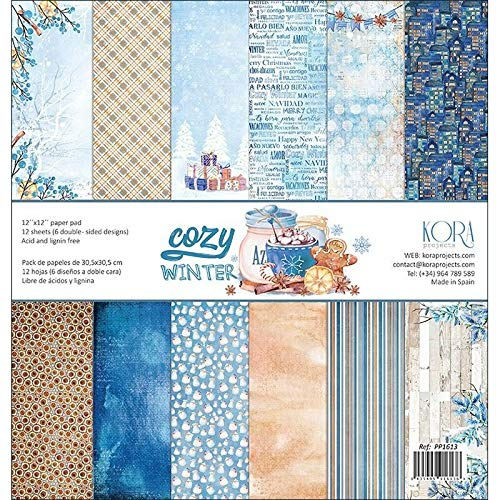 "Pack de 12 Papeles (12""x12"") - Cozy Winter"