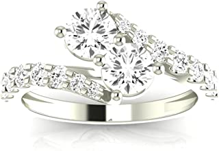 forever us two stone diamond ring