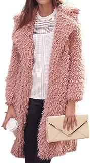 Fur Coat Women Autumn Winter Long Sleeve Thick Jacket Turn Down Collar Warm Outerwear