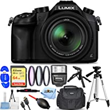 $549 » Panasonic LUMIX DMC-FZ1000 4K Digital Camera (Black) - Pro Bundle Includes: Extreme 64GB SD, Flash, Tripod, Filter Kit, Ga...