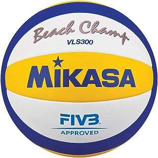 Mikasa Vls300 Balón cosido, Beach-Volleyball MIKASABEACH CHAMP VLS 300, Größe 5, Amarillo/Azul