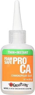 Great Planes Pro Foam Safe Ca Thin Glue 20G Cyanoacrylate Adhesive
