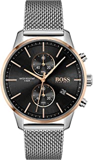 Hugo Boss Men's Black Dial Stainless Steel Watch - 1513805