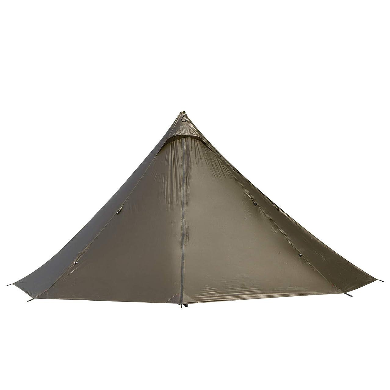 再開水没ゲージBlack Orca ワンポールテント 軽量テント 2人用 簡単設営 防水 キャンプ用