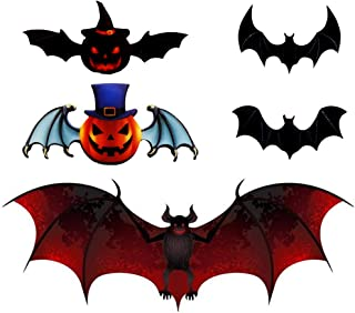 DIY Halloween Party Supplies PVC 3D Decorative Scary Bats Wall Decal Wall Sticker, Halloween Eve Decor Home Window Decorat...
