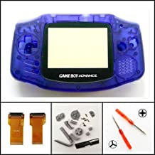 Full Housing Shell Case Cover Flex Cable Adapter for Nintendo Game Boy Advance GBA AGS 001 Mod Kit Replacement Clear Blue