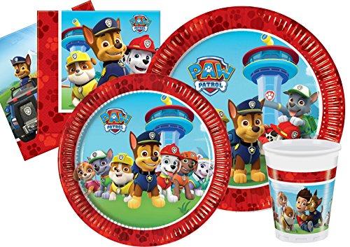 Ciao-Kit Party Tavola Paw Patrol Let's Roll persone (112 pezzi Ø23cm, piatti Ø20cm, 24 bicchieri plastica 200ml, 40 tovaglioli carta 33x33cm), Multicolore, Y4625