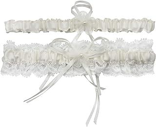 Liga elegante para mujer, con lazo, accesorio para vestido de novia