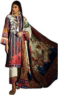 D.S. FABRICS Women's Pure Lawn Beautiful Unstitched Dress Material