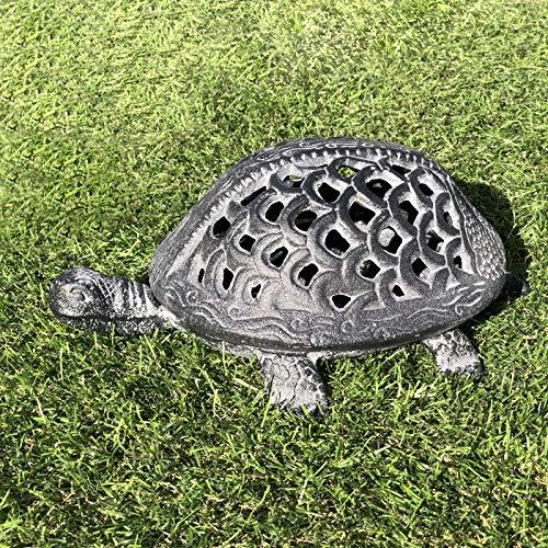 Chemin_de_Land Lantaarn, windlicht, schildpad, grijs, kaars, binnen en buiten, 32 cm