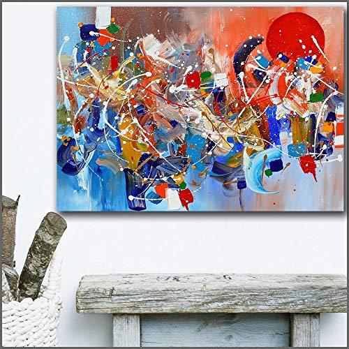 Groot formaat Arizona olieverfschilderij zonsondergang expressionistische kunst canvas en slaapkamer foto frameloze schilderij 75X100CM