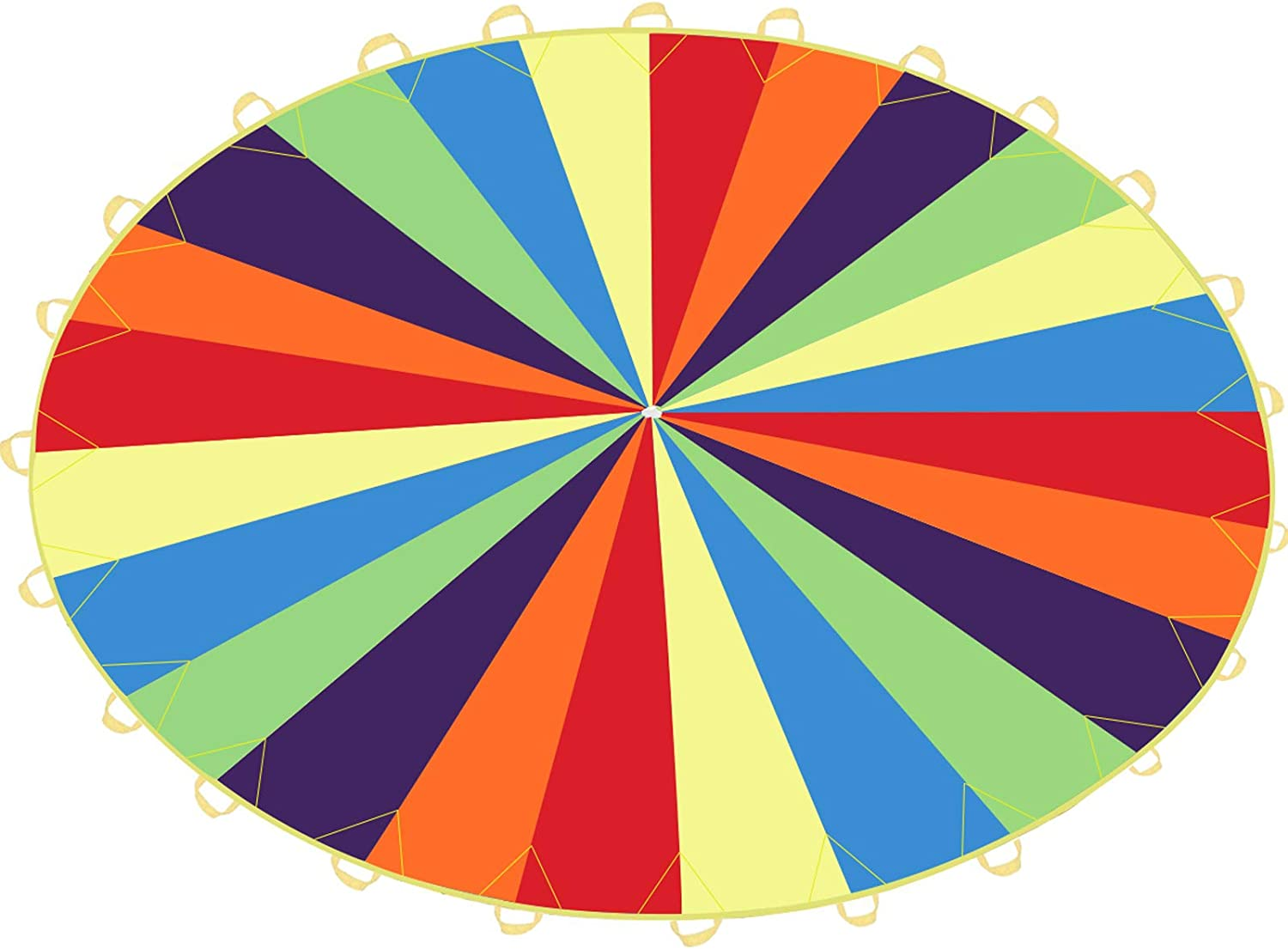 Sonyabecca Play Parachute 20ft with 24 Handles for Kids Cooperative Team Building Games