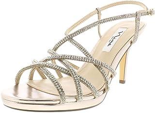 053c7a04d7b Nina Womens Vilma Metallic Strappy Dress Sandals