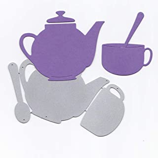yangerous Teapot Metal Cutting Dies Stencil DIY Scrapbooking Album Stamp Paper Card Embossing Crafts Decor