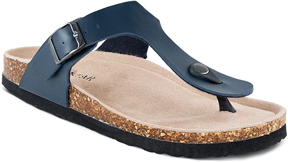 Women's Thong Flip Bargain Flop Flat Casual Sandals Buckle Max 84% OFF with Str Cork