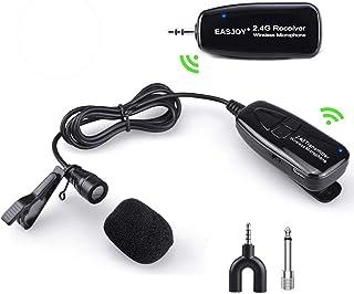 میکروفون بیسیم Lavalier Easjoy میکروفون بیسیم یقه ای مناسب برای تدریس، کنفرانس، راهنمایی تور و اجرای روی صحنه - قابل شارژ