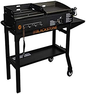 Blackstone 1819 Griddle and Charcoal Combo, Black