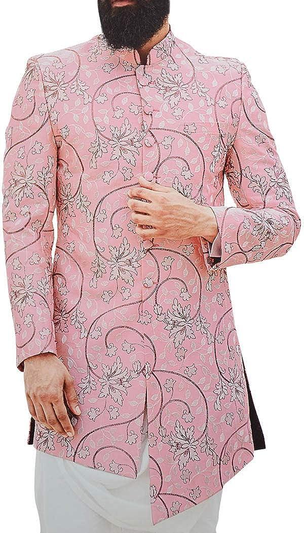 INMONARCH Mens Pink Embroidered Stylish Jodhpuri Indian Wedding Suit JO1064
