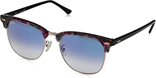 Rb3016f Clubmaster Asian Fit Square Sunglasses