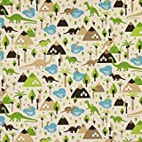 Fabulous Fabrics Halbpanama natur, Tier, 140cm breit –
