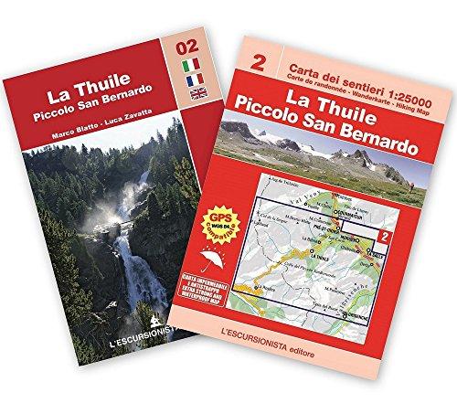 La Thuile, piccolo San Bernardo 1:25.000 trekking. Mappa escursionistica. Con carta. Ediz. multilingue