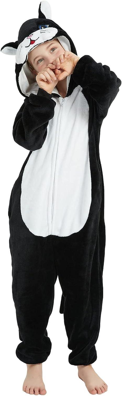 ACOGNA Cat Onesie Kids Costume for Girls One National uniform free El Paso Mall shipping Animal Plush Piece