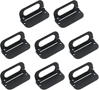 Karcy Flush Pull Handle Pull Handles for Door Drawer Cabinets Black Pull Handle Set of 8 with Screws
