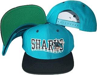 San Jose Sharks Wave Teal/Black Two Tone Snapback Adjustable Plastic Snap Back Hat/Cap