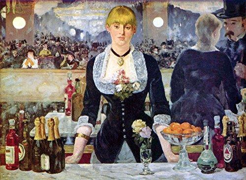 Het Museum Outlet - Bar in de Folies-Bergere door Manet, Stretched Canvas Gallery verpakt. 58 x 78 cm.