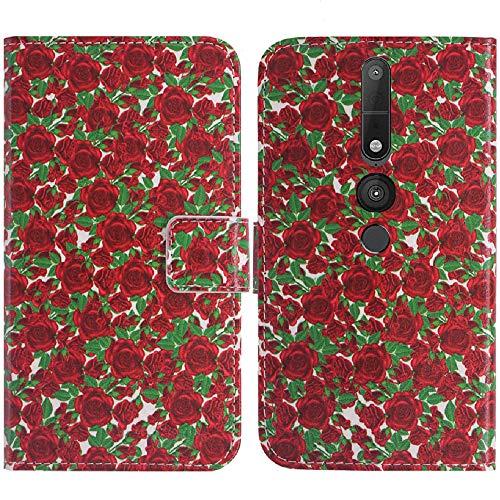 TienJueShi Rose Blume Flip Book Stand Brief Leder Tasche Schütz Hülle Handy Hülle Abdeckung Fall Wallet Cover Etüi Skin Für Lenovo Phab 2 Pro 6.4 inch