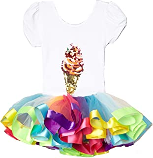 Wenchoice Girl's Red & Blue Ice Cream Cone Dress L(5T-6T)