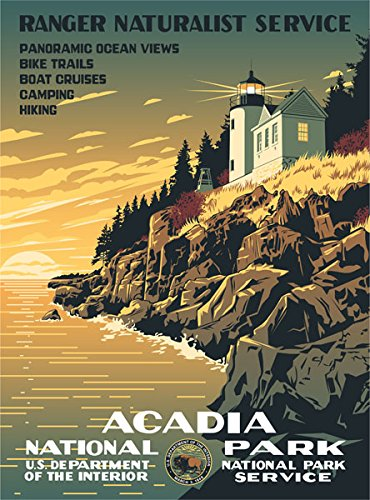 Ford Acadia National Park WPA Poster
