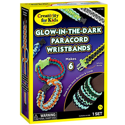 Creativity for Kids Glow-in-the-Dark Paracord Wristbands