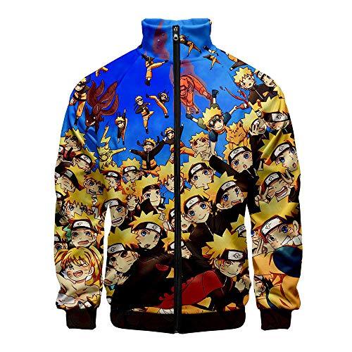 Thimen kleding voor jongeren jongens Naruto 2019 Nieuwe Japanse Anime 3D-print Gelegenheden Slim herenjas jas jas Casual Trainingspak Jongeren Kleding Locker Model Sky Blue