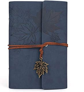 DELFINO Leather Writing Journal Notebook, The Tree of Life Refillable Writing Journal Magnetic Faux Leather Journal, Trave...