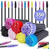 Ohuhu Lot de 350 pinceaux à mascara jetables pour sourcils et sourcils, 7 couleurs mélangées dans un étui
