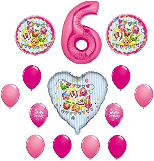 SHOPKINS 6th Sixth BIRTHDAY PARTY Balloons Decorations Supplie