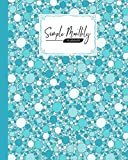 "Simple Monthly Planners: Blue Bubbles Simple Monthly Planners, Pretty Simple Planners Monthly and Year | To Do List, Goals, and Agenda for School, Home and Work, 120 Pages, Size 8"" x 10"""