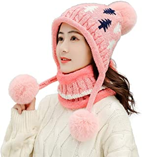 Plum Blossom Pirates Knitted Hat Winter Outdoor Hat Warm Beanie Caps for Men Women