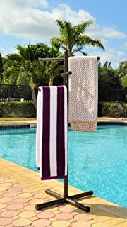 Jamlyn Pool & Spa Towel Rack Bronze Premium Extra Tall Towel Tree Outdoor PVC