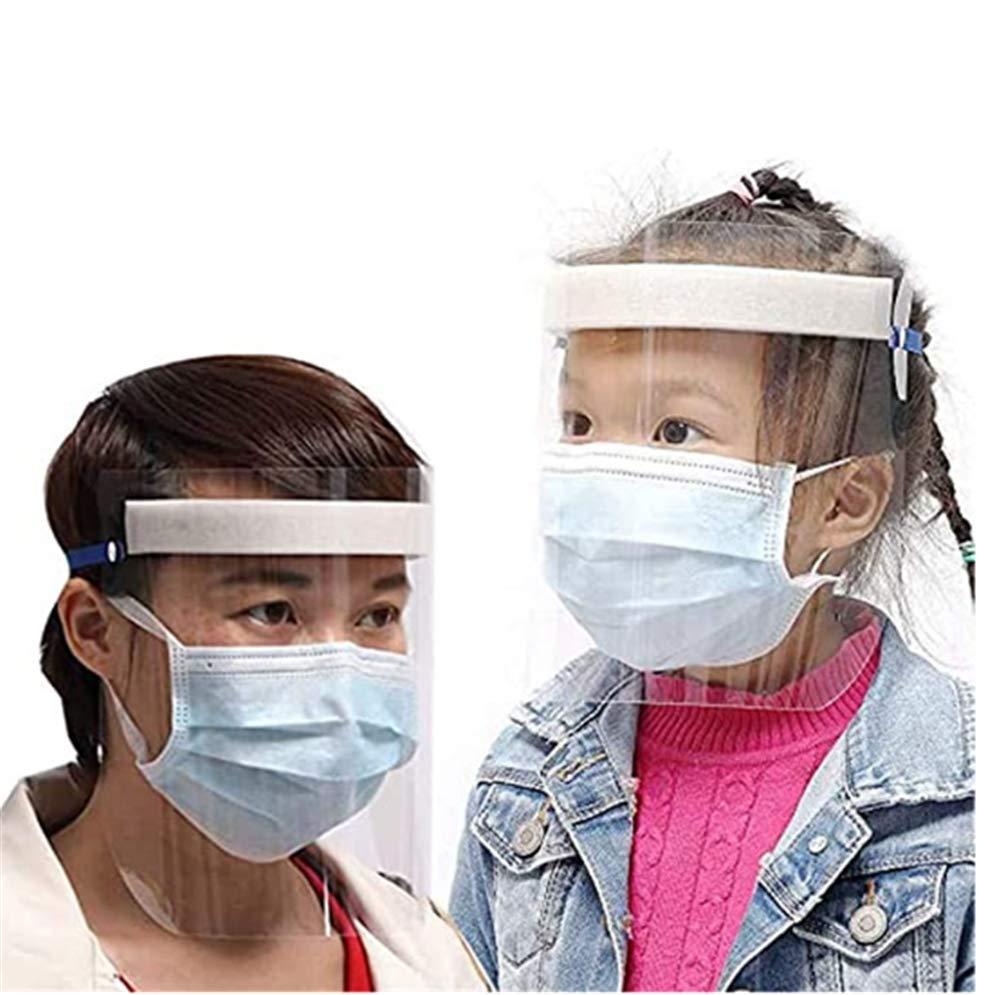 Las Gotas y el Agua de Ojos Y Cabeza Pantalla Facial Transparente Ajustable de pl/ástico antivaho para prevenir la Saliva Visera de Escudo de protecci/ón Integral